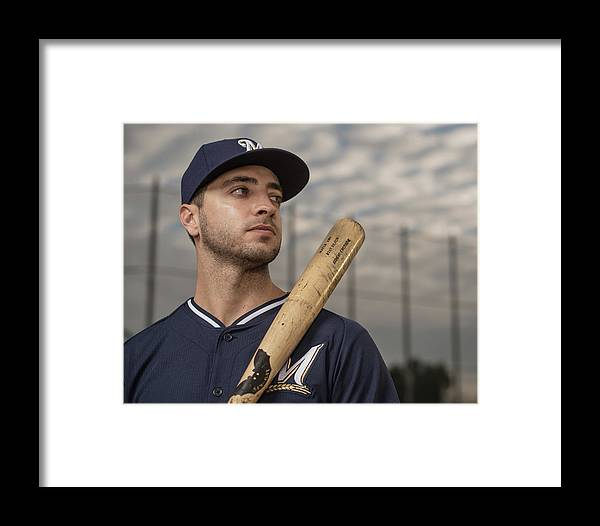 Media Day Framed Print featuring the photograph Ryan Braun by Rob Tringali