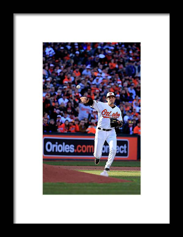 American League Baseball Framed Print featuring the photograph Ryan Flaherty by Rob Carr