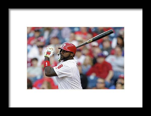 Citizens Bank Park Framed Print featuring the photograph Ryan Howard by Chris Gardner