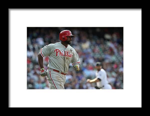 Ryan Howard Framed Print featuring the photograph Ryan Howard by Doug Pensinger