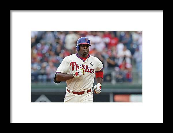 Three Quarter Length Framed Print featuring the photograph Ryan Howard by Hunter Martin