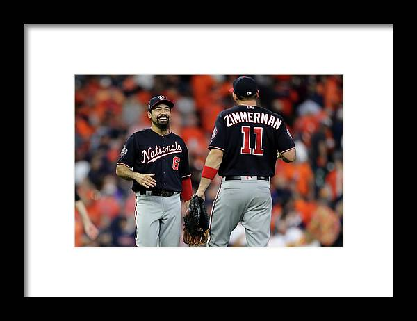 American League Baseball Framed Print featuring the photograph Ryan Zimmerman and Anthony Rendon by Elsa