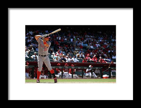 People Framed Print featuring the photograph Ryan Zimmerman by Christian Petersen