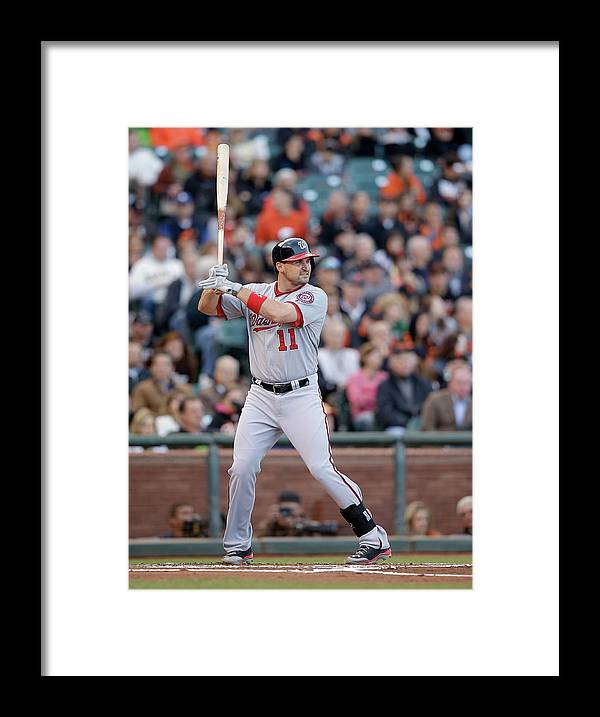 San Francisco Framed Print featuring the photograph Ryan Zimmerman by Ezra Shaw