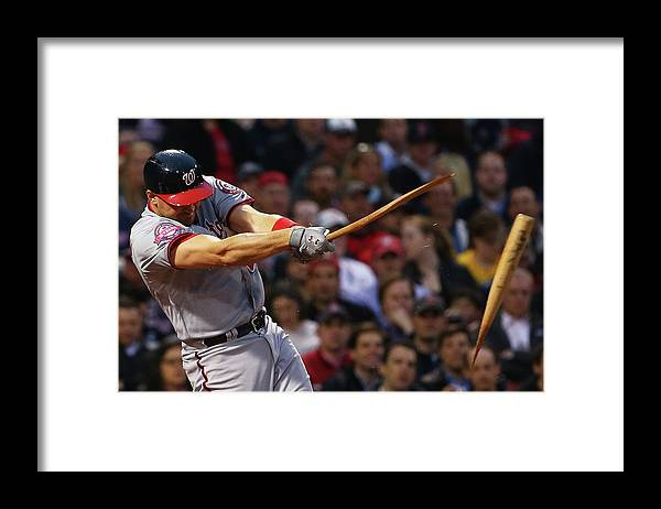 Three Quarter Length Framed Print featuring the photograph Ryan Zimmerman by Maddie Meyer
