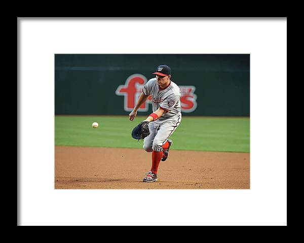 Second Inning Framed Print featuring the photograph Ryan Zimmerman by Norm Hall