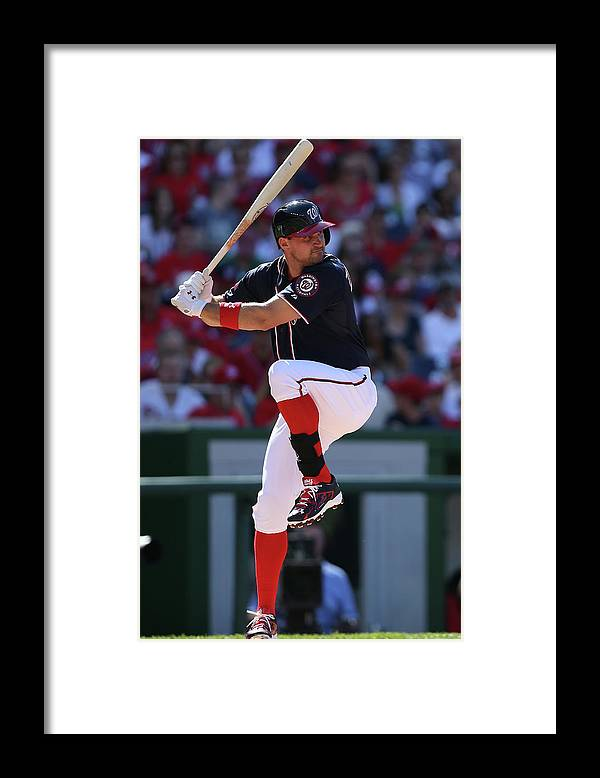 Ryan Zimmerman - Baseball Player Framed Print featuring the photograph Ryan Zimmerman by Patrick Smith