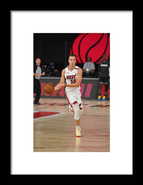 Nba Pro Basketball Framed Print featuring the photograph Sacramenro Kings v Miami Heat by Bill Baptist