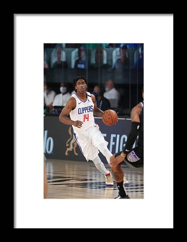 Nba Pro Basketball Framed Print featuring the photograph Sacramento Kings v LA Clippers by Joe Murphy