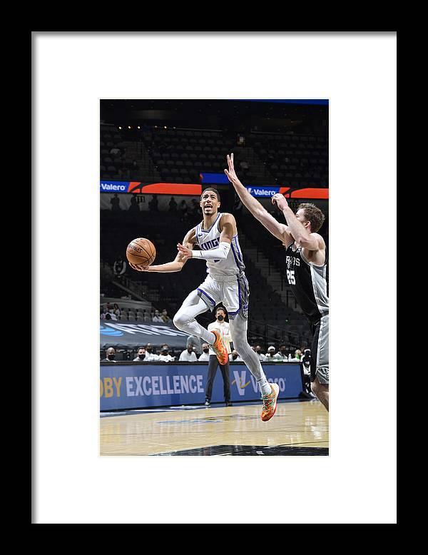 Nba Pro Basketball Framed Print featuring the photograph Sacramento Kings v San Antonio Spurs by Logan Riely