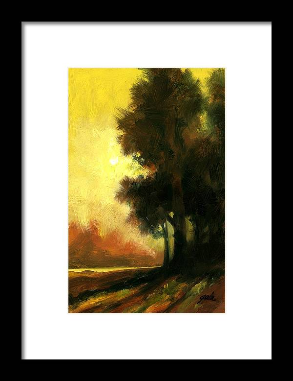 Landscape Framed Print featuring the painting Sailors Delight by Jim Gola