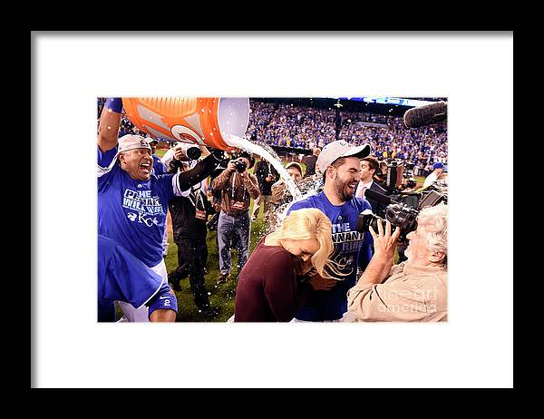 Playoffs Framed Print featuring the photograph Salvador Perez by Lg Patterson