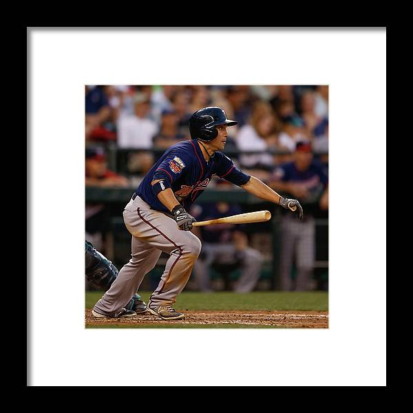 American League Baseball Framed Print featuring the photograph Sam Fuld by Otto Greule Jr