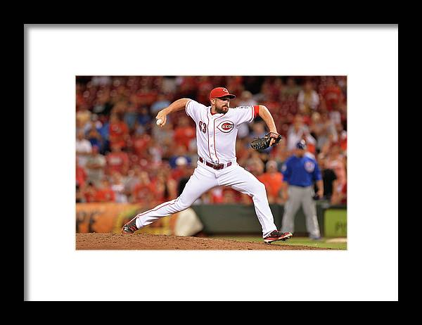 Great American Ball Park Framed Print featuring the photograph Sam Lecure by Jamie Sabau