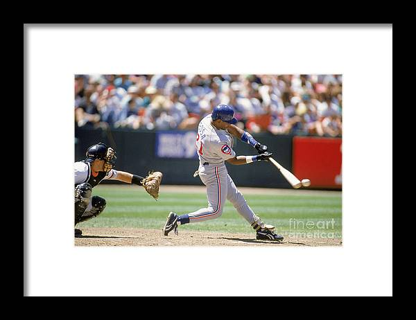 Candlestick Park Framed Print featuring the photograph Sammy Sosa by Jeff Carlick