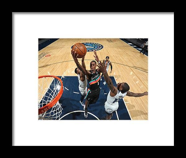 Nba Pro Basketball Framed Print featuring the photograph San Antonio Spurs v Minnesota Timberwolves by Jordan Johnson