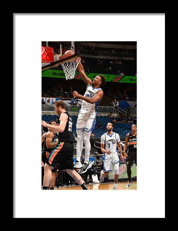 Nba Pro Basketball Framed Print featuring the photograph San Antonio Spurs v Orlando Magic by Gary Bassing