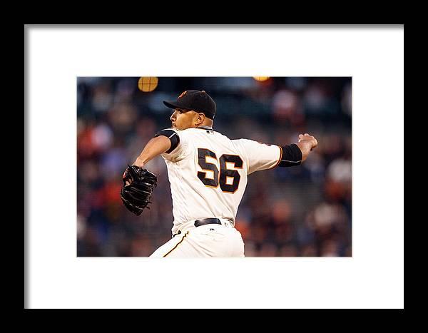 San Francisco Framed Print featuring the photograph San Diego Padres V San Francisco Giants by Jason O. Watson