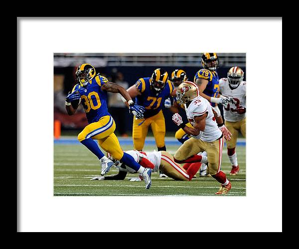People Framed Print featuring the photograph San Francisco 49ers v St Louis Rams by Michael B. Thomas