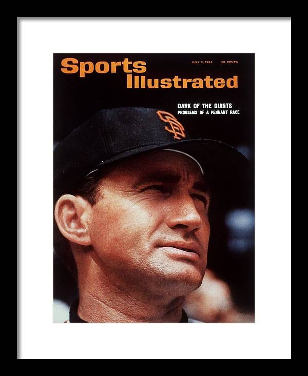 Alvin Dark Framed Print featuring the photograph San Francisco Giants Manager Alvin Dark, 1963 All Star Game Sports Illustrated Cover by Sports Illustrated