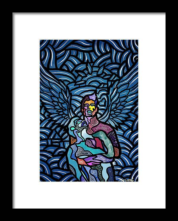 Angels Framed Print featuring the digital art Sanctuary by Marconi Calindas