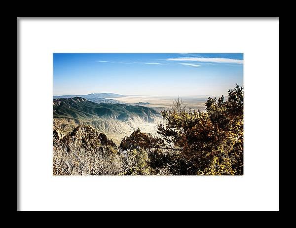 On Top Of The World Framed Print featuring the photograph Sandia Mountains - View from the Sandia Crest by Ivanastar