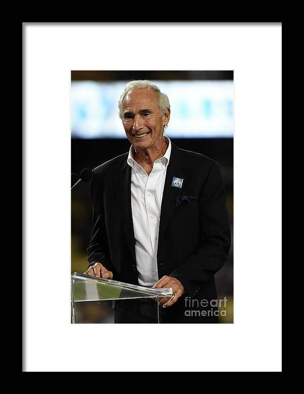 Crowd Framed Print featuring the photograph Sandy Koufax by Lisa Blumenfeld