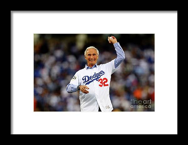 Three Quarter Length Framed Print featuring the photograph Sandy Koufax by Tim Bradbury