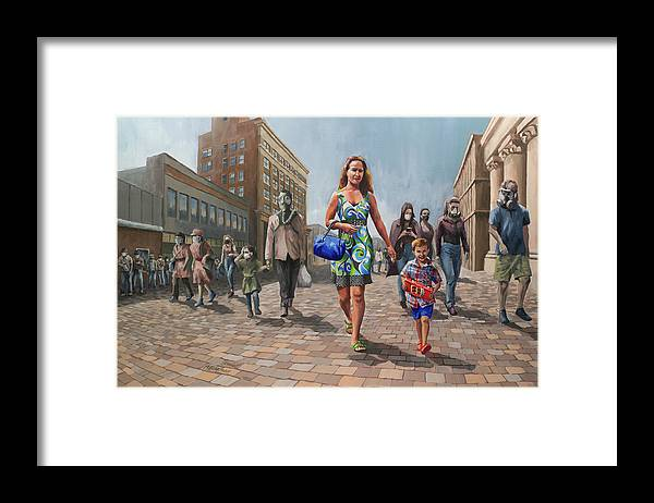 Art Framed Print featuring the painting Sanity, Her Son, and the Credulous by Jordan Henderson