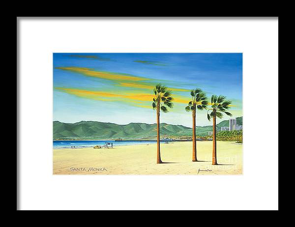 Santa Monica Framed Print featuring the painting Santa Monica by Jerome Stumphauzer