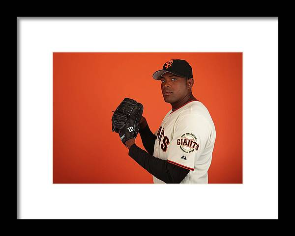 Media Day Framed Print featuring the photograph Santiago Casilla by Christian Petersen