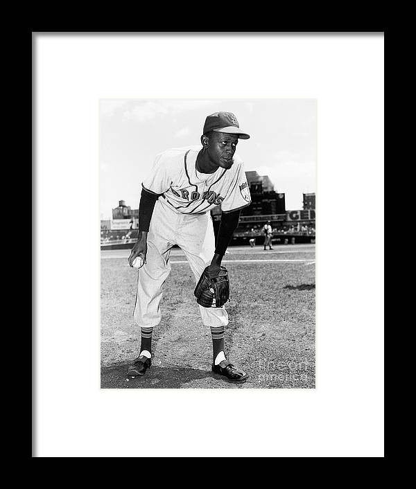 American League Baseball Framed Print featuring the photograph Satchel Paige by Kidwiler Collection