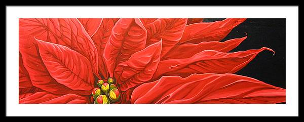 Floral Framed Print featuring the painting Scarlet Nights by Hunter Jay