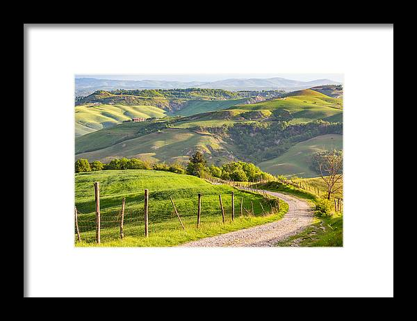 Scenics Framed Print featuring the photograph Scenic View Of Country Road Against Sky by Lars Johansson / EyeEm