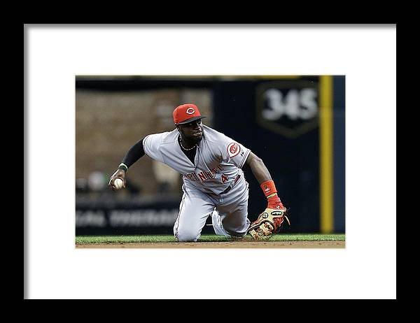 Retirement Framed Print featuring the photograph Scooter Gennett and Brandon Phillips by Mike Mcginnis