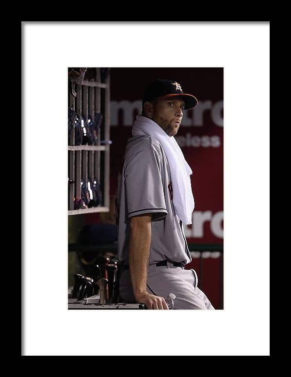 American League Baseball Framed Print featuring the photograph Scott Feldman by Jeff Gross