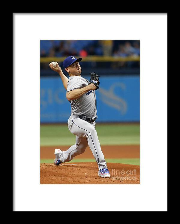 People Framed Print featuring the photograph Scott Kazmir by Brian Blanco
