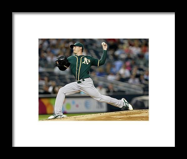 American League Baseball Framed Print featuring the photograph Scott Kazmir by Elsa