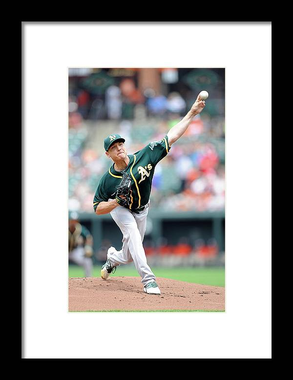 American League Baseball Framed Print featuring the photograph Scott Kazmir by Greg Fiume