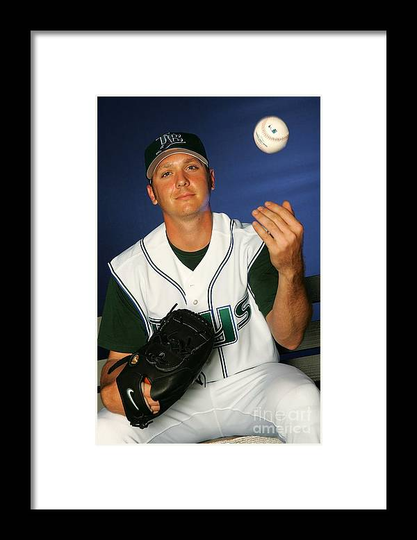 Media Day Framed Print featuring the photograph Scott Kazmir by Jamie Squire