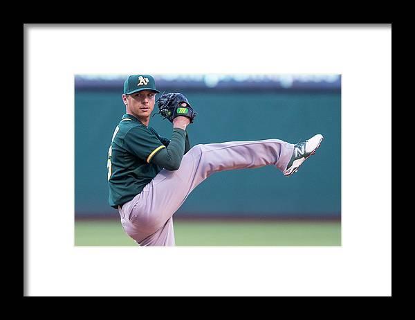 American League Baseball Framed Print featuring the photograph Scott Kazmir by Jason Miller