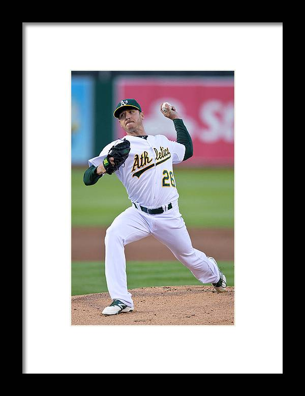 American League Baseball Framed Print featuring the photograph Scott Kazmir by Jason O. Watson