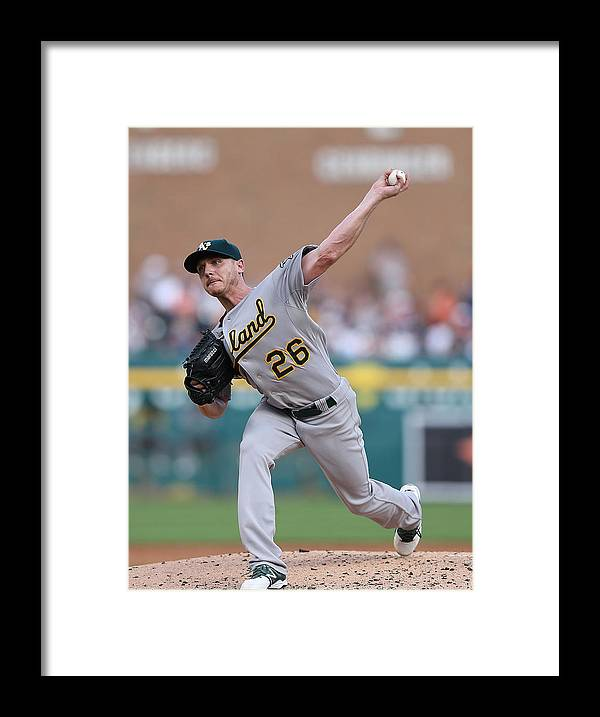 Second Inning Framed Print featuring the photograph Scott Kazmir by Leon Halip