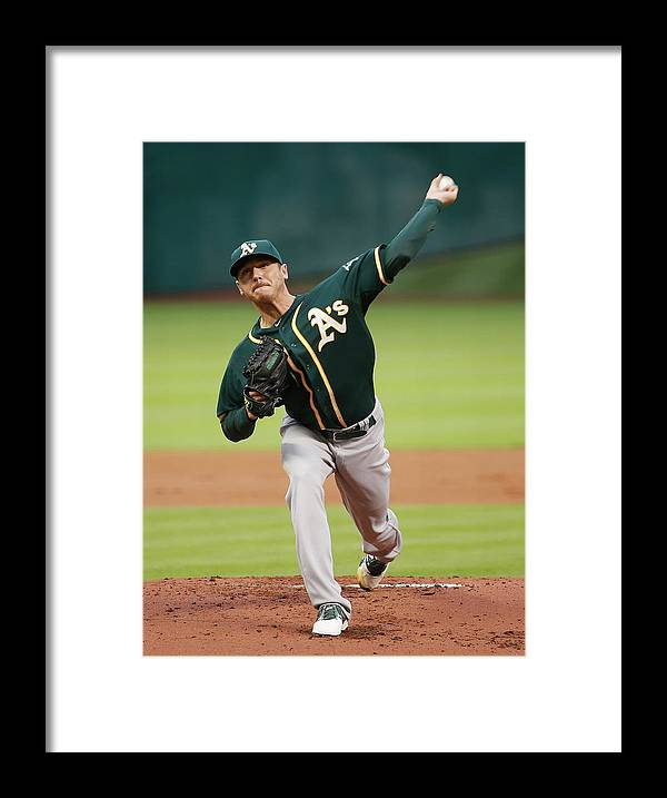 American League Baseball Framed Print featuring the photograph Scott Kazmir by Scott Halleran