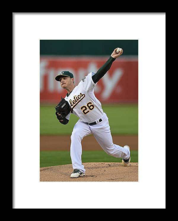 American League Baseball Framed Print featuring the photograph Scott Kazmir by Thearon W. Henderson
