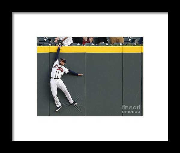 Atlanta Framed Print featuring the photograph Scott Kingery and Ender Inciarte by Mike Zarrilli