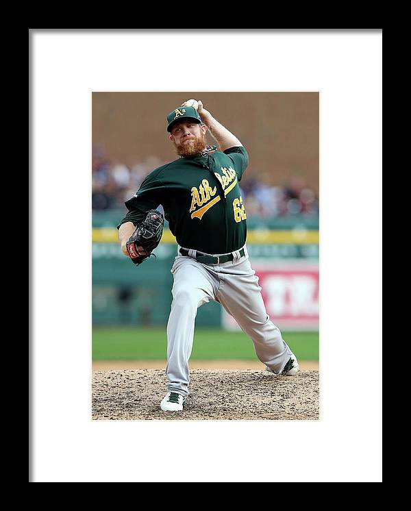 American League Baseball Framed Print featuring the photograph Sean Doolittle by Leon Halip