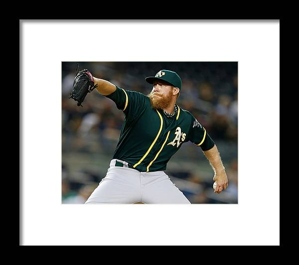 Ninth Inning Framed Print featuring the photograph Sean Doolittle by Rich Schultz