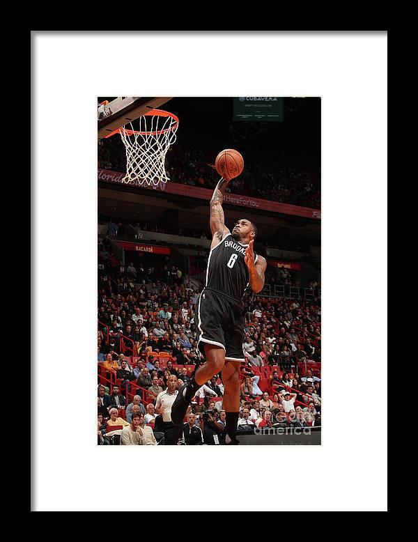 Nba Pro Basketball Framed Print featuring the photograph Sean Kilpatrick by Issac Baldizon