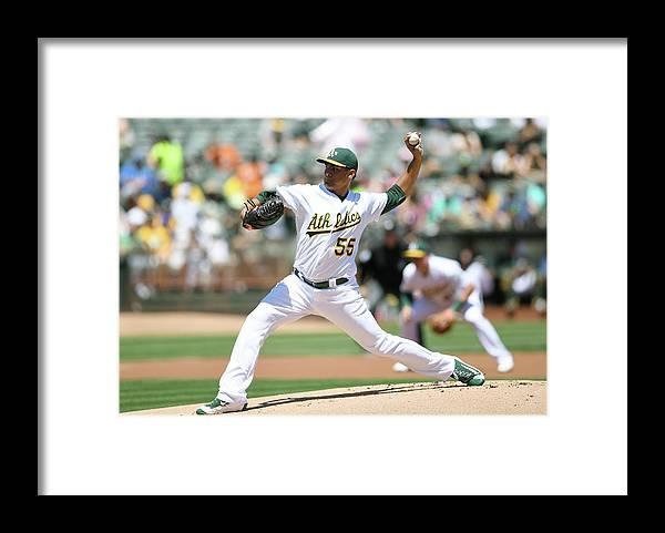American League Baseball Framed Print featuring the photograph Sean Manaea by Thearon W. Henderson